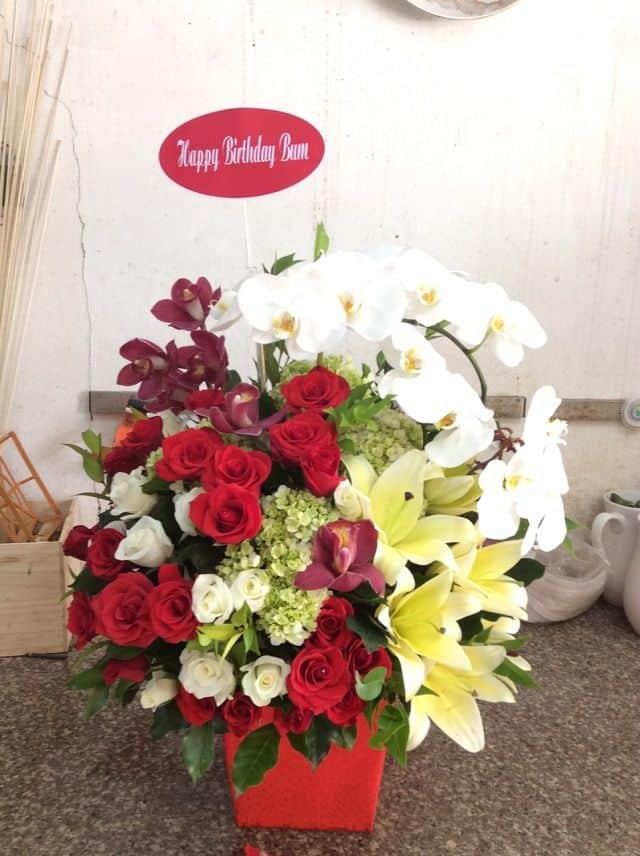 hoa sinh nhat sang trong tang sep