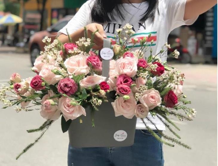 giỏ hoa hồng dễ thương đẹp nhất